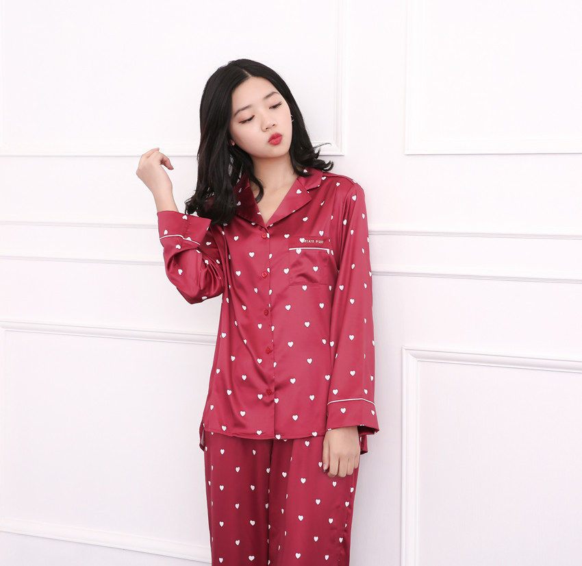 RenYvtil Japanese 3 Pics Silk Pajamas For Women Luxury Womens Pajamas  Women s Pajamas Set Home Long Sleeve Camisole Suit -in Pajama Sets from  Underwear ... f1f8004e6