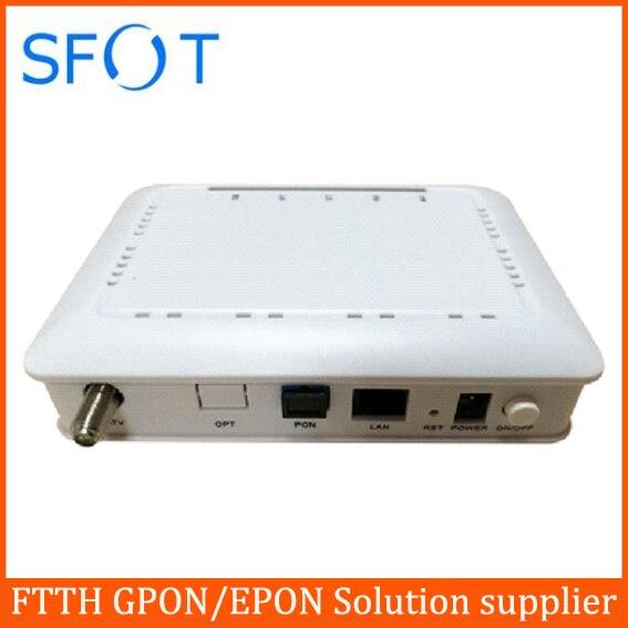CATV RF GPON ONU 1 LAN 1PON 1 RF CATV port work for HUAWEI, ZTE FiberHome