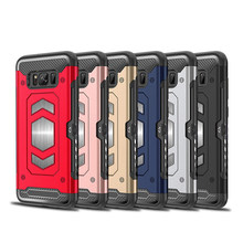 Heavy Duty Car Magnet Armor Case For Samsung Galaxy S8 S9 S10 S10e A6 A8 Plus 2018 A5 A7 J5 J7 2017 S7 Note 8 9 10 Plus Cover(China)
