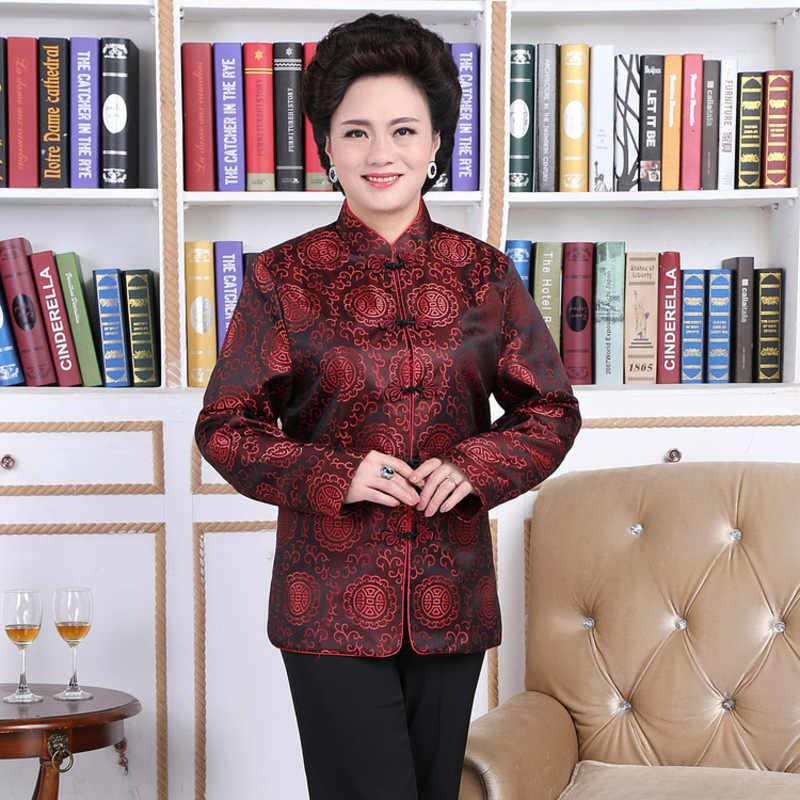 c285e8b9a Longevity Wedding Chinese Traditional Clothing Jacket Lovers Dress Elderly Clothes  Ancient China Cheongsam Tops Satin National