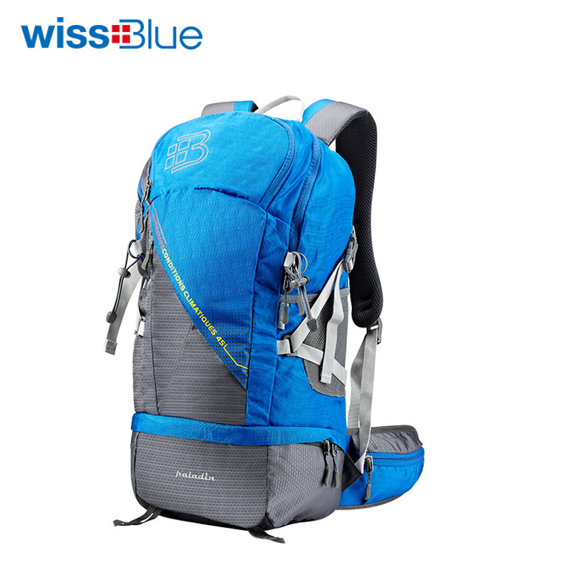 WissBlue Professional Climbing Backpack Camping Outdoor Backpack CR Carrying System Hiking Gear Trekking Travel Sport Backpack цена и фото