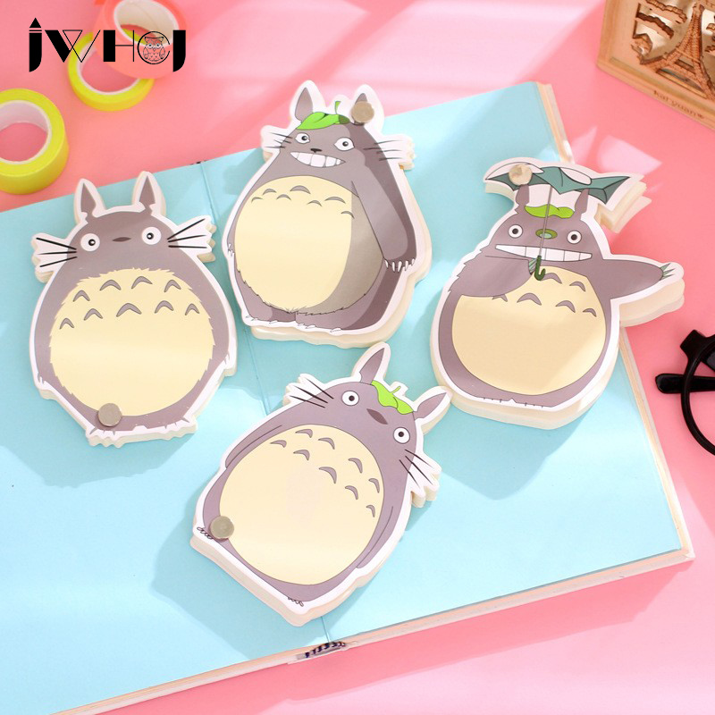 1 Pcs  Children Like Cute Totoro Can Rotate Memo Pad Paper Sticky Notes Post Notepad Kawaii Stationery School Supplies