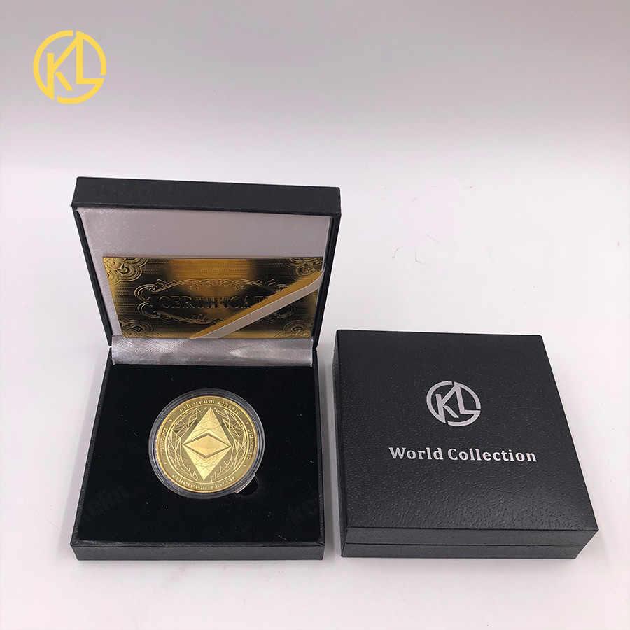 CO012 Mạ Vàng Ethereum Classic Đồng Tiền Đồng Tiền Kỷ Niệm Bộ Sưu Tập Nghệ Thuật Tặng Vật Lý Giả Kim Loại Nhà Trang Trí Tiệc