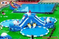 Новый большой надувной бассейн аквапарк комбо Детские площадки