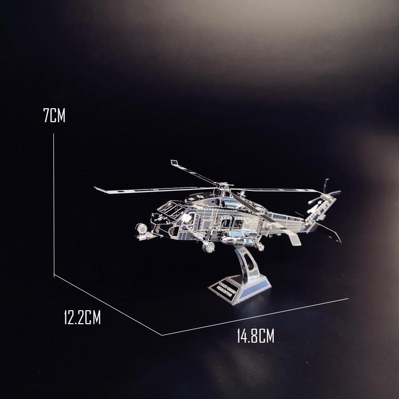 PENYELAMBUNG TANAH HELICOPTOR NANYUAN D12201 Teka-teki 3D DIY - Teka-teki - Foto 5