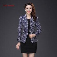 Fairy Dreams Women Blazers Print Coat Formal Jacket 2017 New Style Long Sleeve Autumn Plus Size