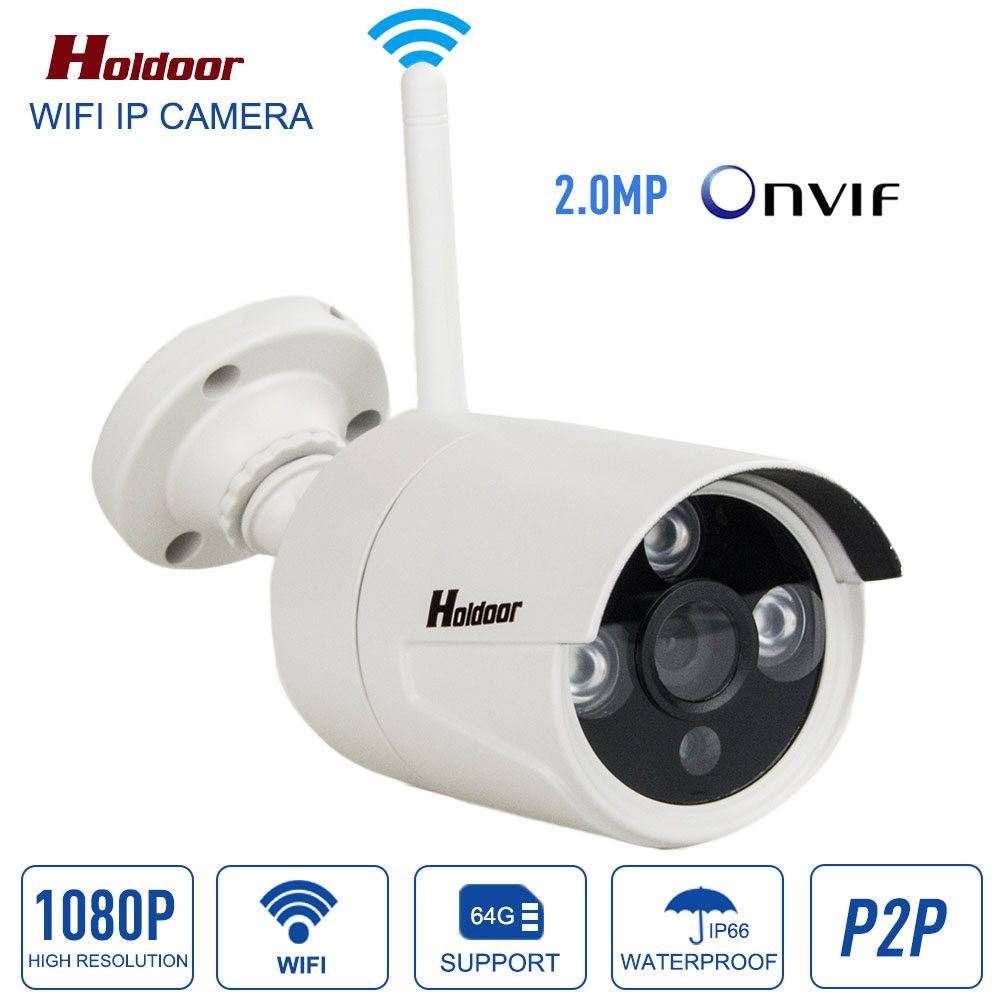 ip camera 1080p wifi wireless outdoor waterproof IP66 P2P Onvif H.264 cctv security system support micro sd Card record ipcam ho wireless waterproof security camera system 2 4g long transmitter distance 4cameras dvr monitor up to 32g sd card wifi ipcam kits