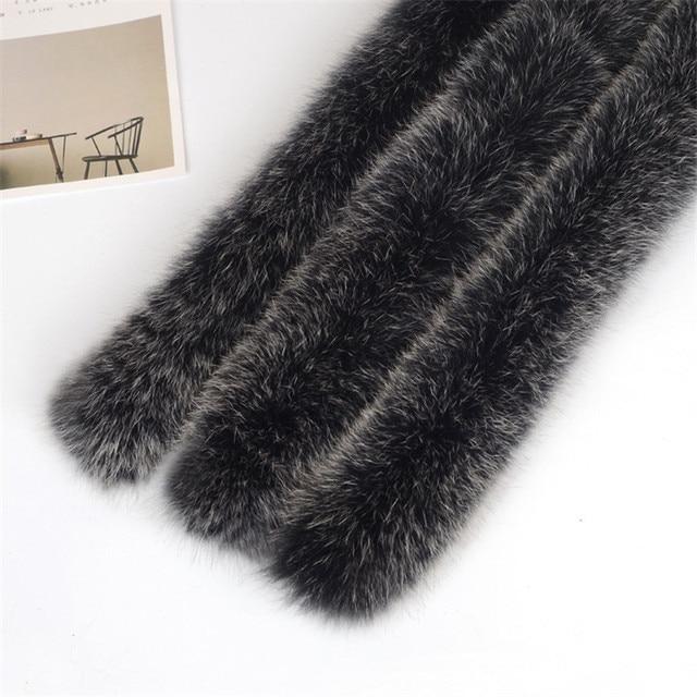 Real fox fur scarf 100% Genuine 70cm winter fur collar for men women's clothing hot selling neck wear