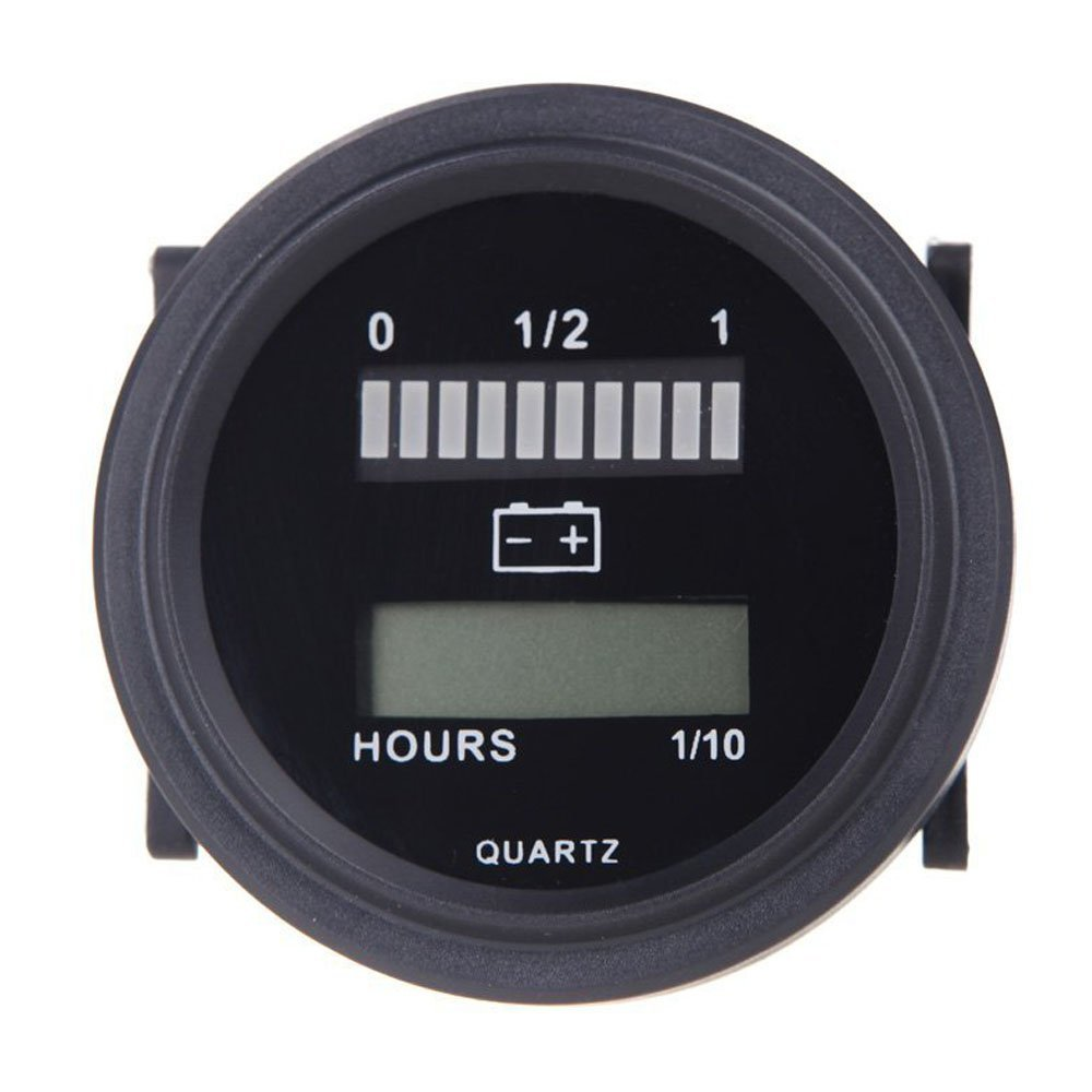 FUNN-12V/24V/36V/48V/72V LED Digital Battery Status Charge Indicator with Hour Meter Gauge Battery Indicator with Hour Meter free shipping 12v 24v 36v 48v 72v battery meter digital voltage gauge for electric vehicles forklift truck club car