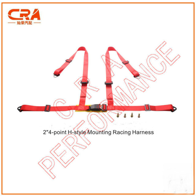 (10 sets) 2016 Venta Caliente 2 pulgadas 4-point Rojo de Estilo H Montaje Racing Harness/Racing Car Cinturones de seguridad/Cinturones de Seguridad