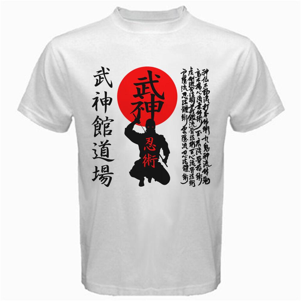 New Bujinkan Dojo Budo Taijutsu Ninjutsu Japanese Kanji 9 school Shinobi T-shirt