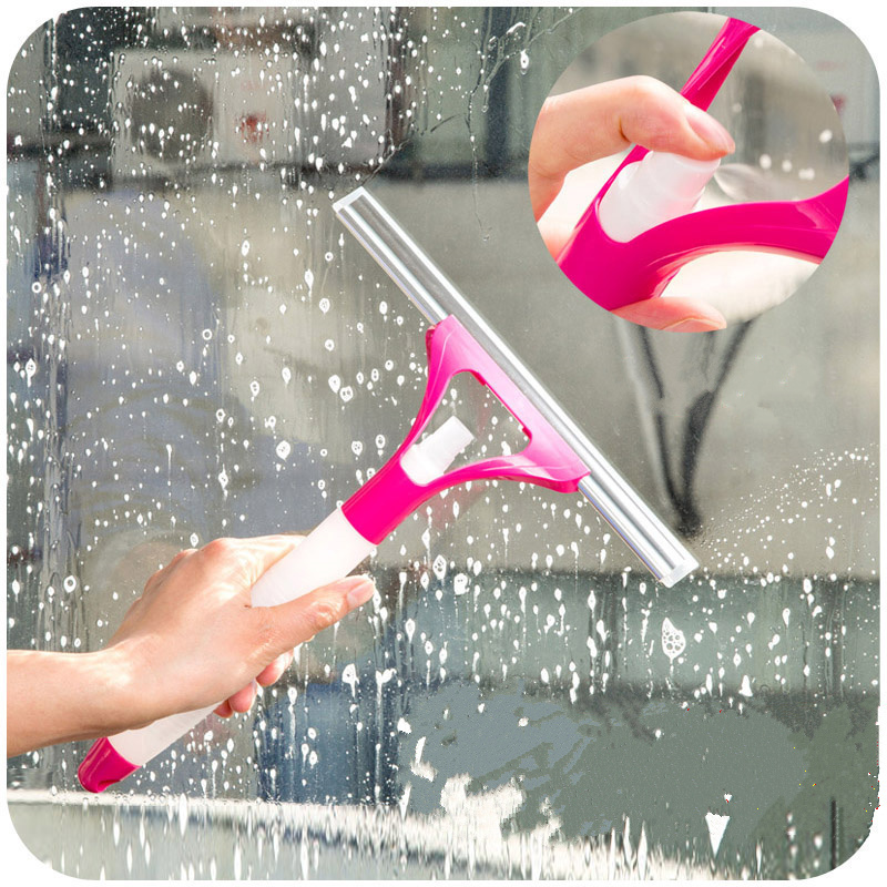 Window Cleaner Washing Brush Spray Mirror Glass Wiper Cleaning Brushes Clean  Sponge Shave For Kitchen Bathroom Car Window