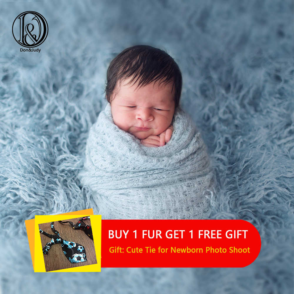 Don&Judy 100x75cm Newborn Faux Fur Blanket Photography Props for Photo Shooting Background Backdrops Photo Stand Basket Filler