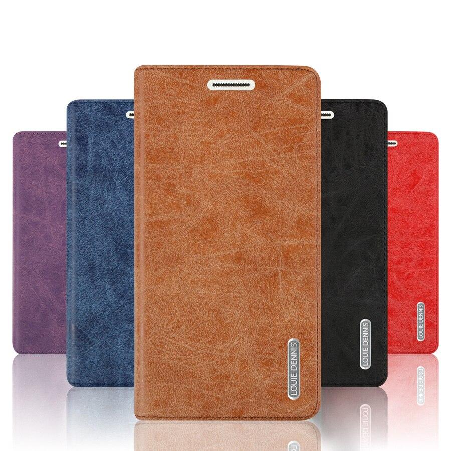 Pour Letv Coolpad Cool1 Double 5.5 rétro Mat Sucker Couverture En Cuir Case Flip Stand Titulaire de la Carte Moblie Téléphone Sac + Cadeau Gratuit