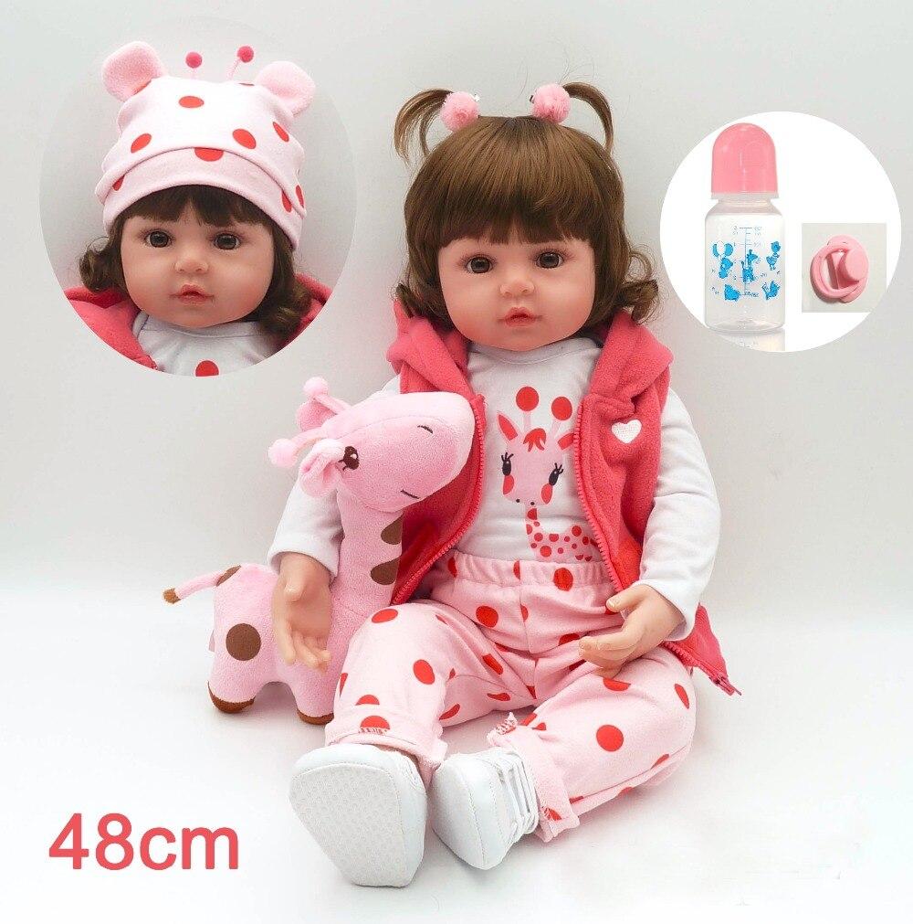 42/48 cm Silicone Reborn bébé poupée jouet avec PP coton fille nouveau-né Blonde princesse bébés Bebe bricolage jouet Surprise cadeau noël Presen