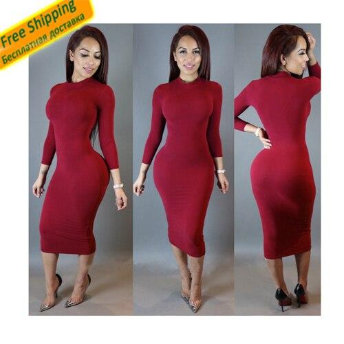 Womens Dress Vestidos Casuales De Mujer Las Dresses Club Night Long Sleeve Solid Underwear Or Outwear
