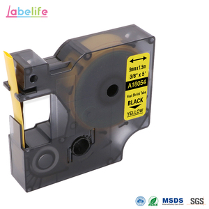 Labellife 18054 Black on Yellow 9mm for DYMO Rhino Industrial IND Heat Shrink Tubes LabelWriter and Industrial Label Printer(China)