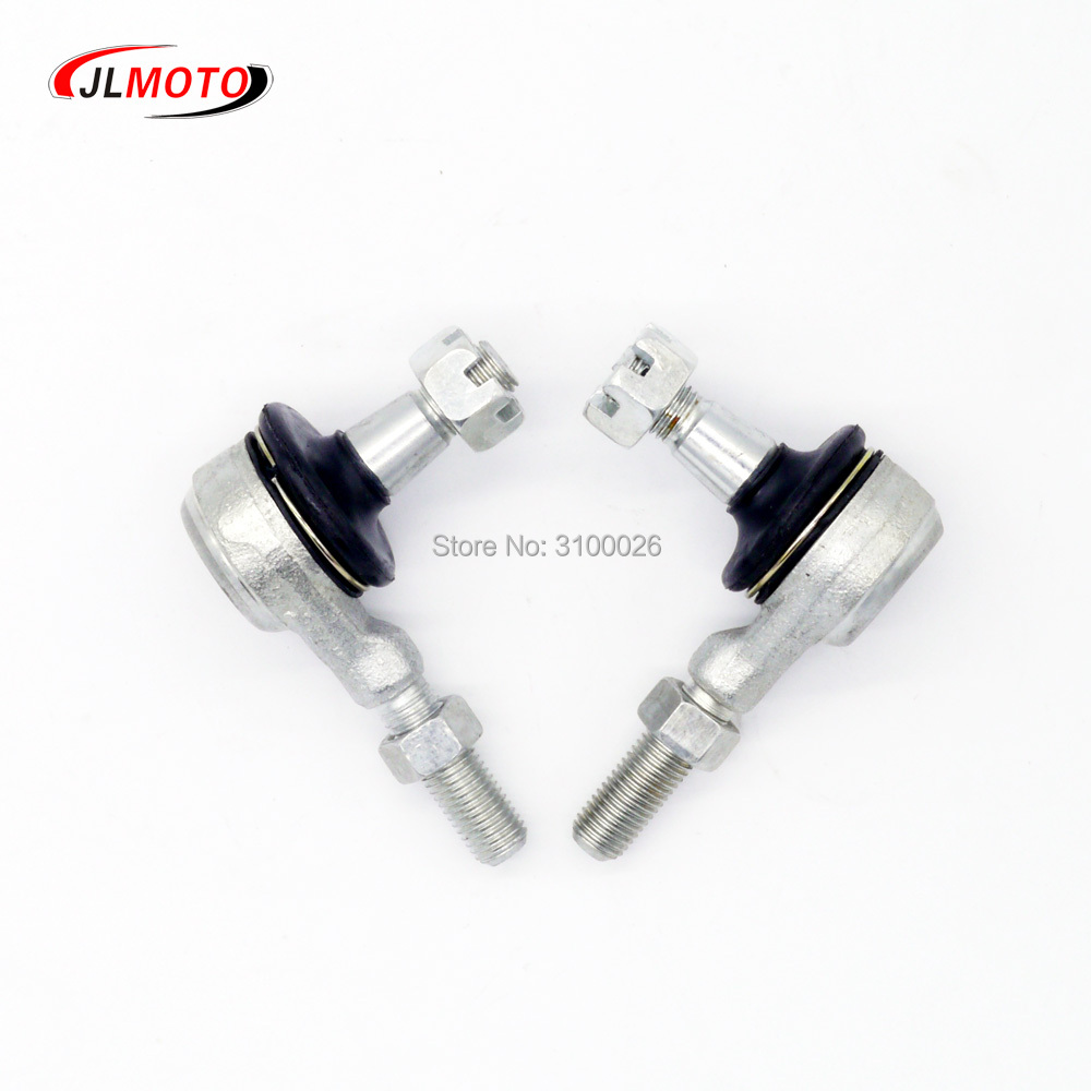 все цены на 1 Pair M10 Left & Right Hand Thread Steering Tie Rod Ends Fit For Yamaha Banshee WARRIOR YFB YFM Raptor 250 350 400 ATV Parts онлайн