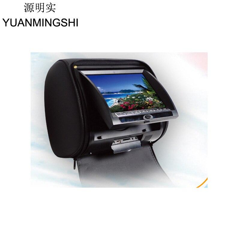 Yuanmingshi 7 дюймов подголовник автомобиля dvd плеер с fm двойной Каналы ИК передатчик аналоговый ТВ тюнер дополнительно с Дистанционное управлен