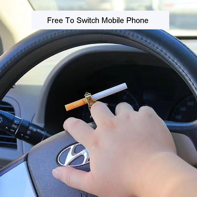 Creative Zinc Alloy Hand Free Ring Cigarette Holder