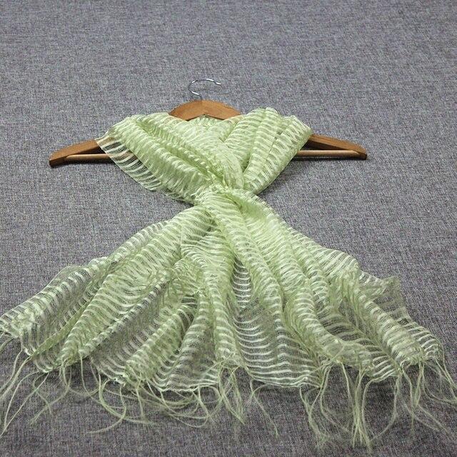 # 0511,100% khăn lụa khăn tay, MỎNG VẢI TUYN, màu sắc: xanh, size: 60*160 cm