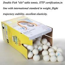 2018 100pcs/set Double Fish V40+ 1 Stars 40mm White Table Tennis Balls ABS Plastic Seamed Balls Training Ping Pong Balls