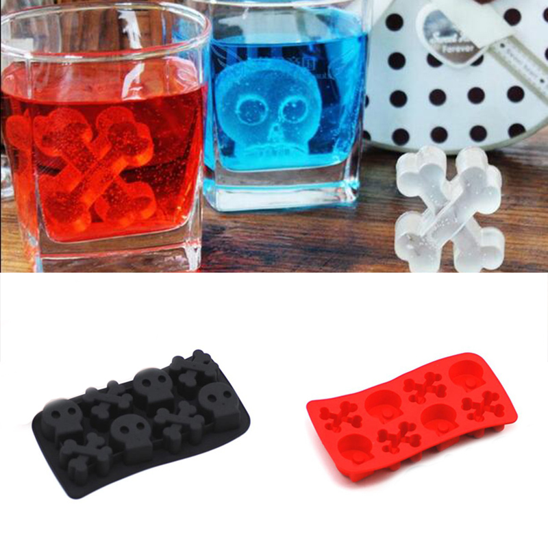Hot Skull Silicone Cake Muffin Mold Mould Novelty Ice Tools Color Random