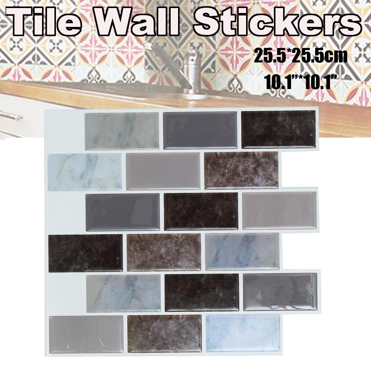 Aliexpress.com : Buy 1PC 3D Tile Wall Stickers Waterproof