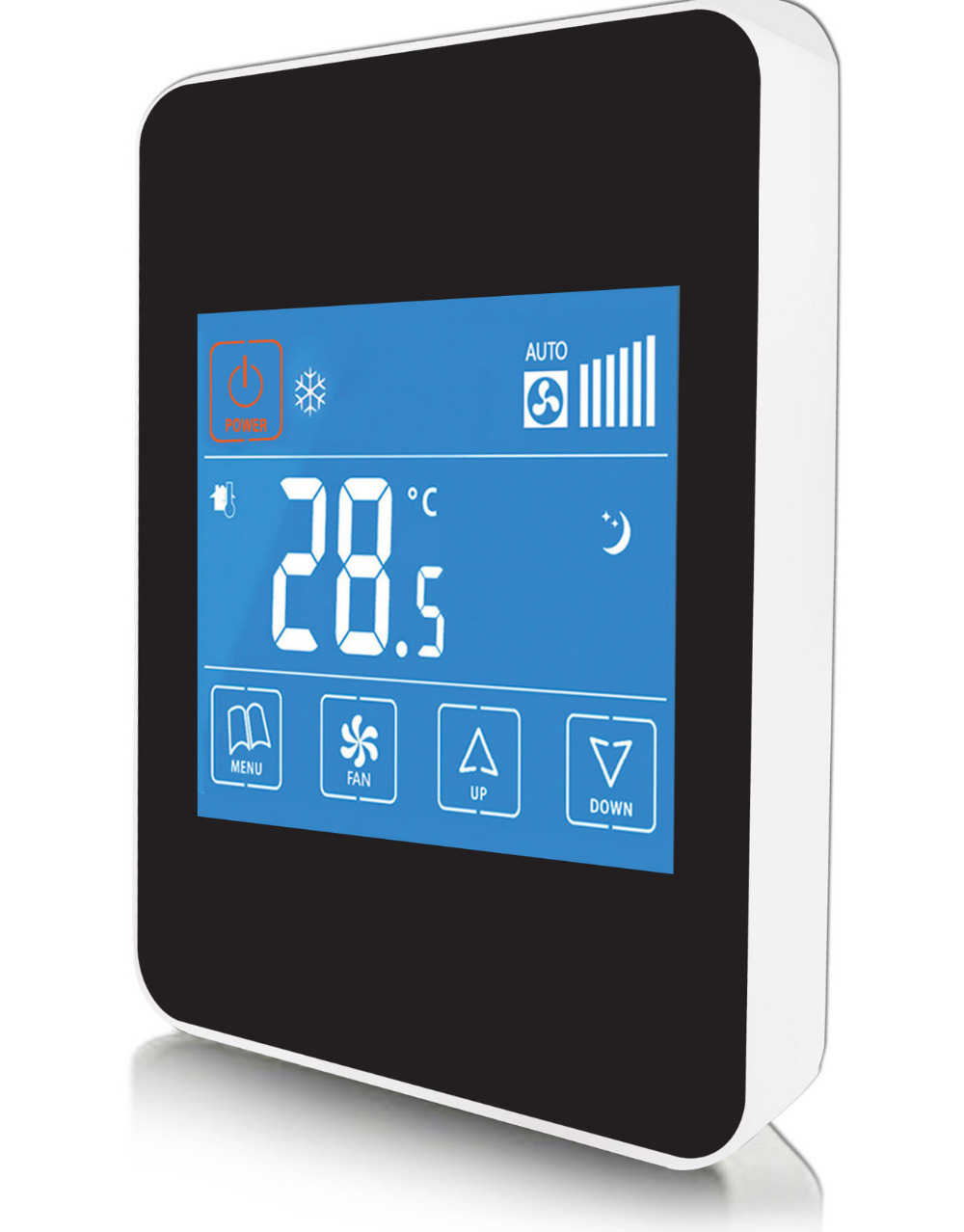 Memory function full capacitance screen intelligent touch control thermostat regulator
