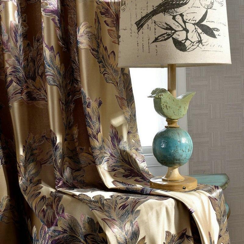 chinese luxe gordijnen voor woonkamer gordijnen voor slaapkamer geborduurde zijde aangepaste elegante windows hang hoge shading panelen in chinese luxe