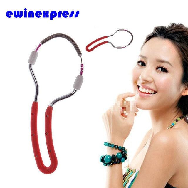 2Pcs Handheld Facial Hair Remover Threading Beauty Epilator Roller for Arm Face Legs Beauty Epilator Makeup Tool