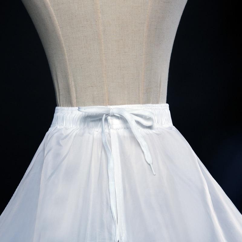U-SWEAR 2018 Hot Sale 3 Color Plain Dyed Women Wedding Petticoats 6 Layers Of Steel Rings Bridal Underskirts For Wedding Dress