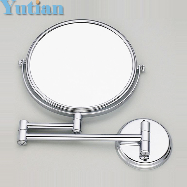 "Free Shipping 8"" dual Makeup mirror 1:1 and 1:3 magnifier Copper Cosmetic Bathroom Double Faced Bath Mirror,YT-9102-A"