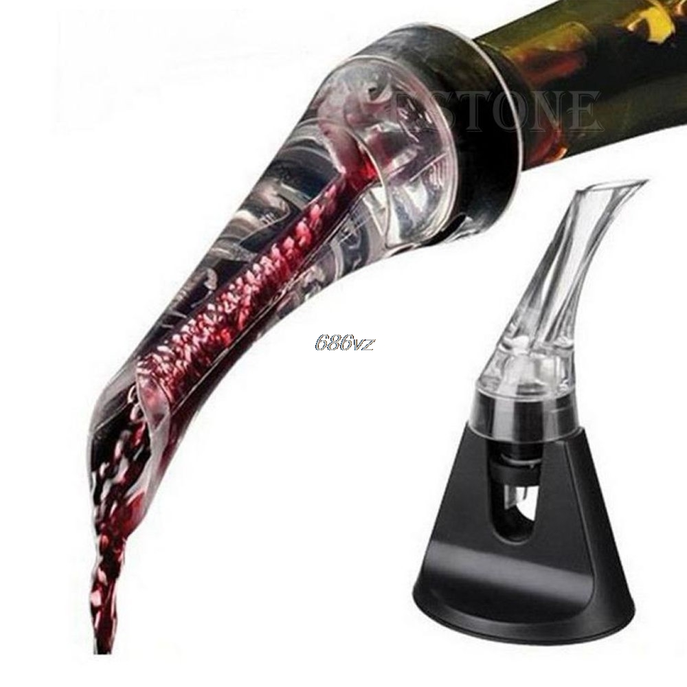CDrop Shipping/Essential Set Quick Aerating Pourer Decanter Red Wine Bottle Mini Travel Aerator N27 Drop Ship