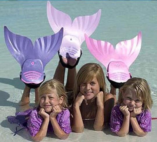 Niños Mermaid Tail Monoaletas Niñas Cola de Sirena Mágica Nadar Aletas Niños Shark Sirena Colas Para la Natación