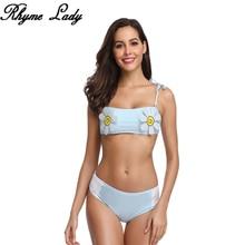 Rhyme женский милый комплект бикини Высокая талия купальники для девочек пляжный купальный костюм купальник пуш-ап в бразильском стиле для плавания sui