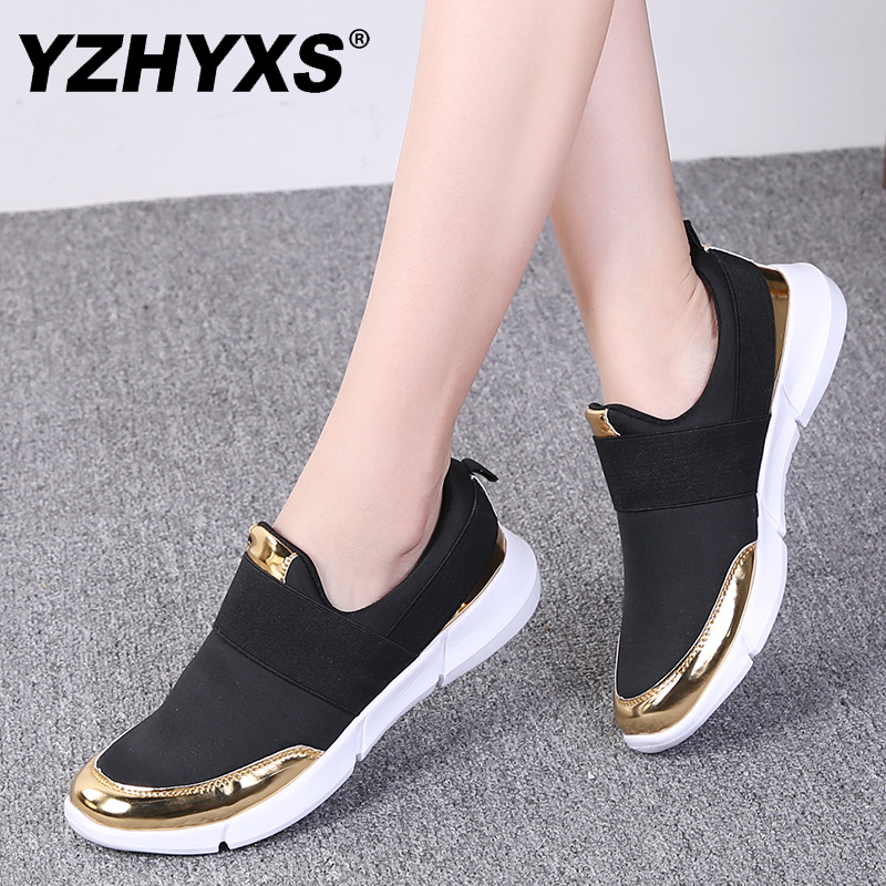 YZHYXS women casual shoes slip on flat walking sneakers mesh breathable comfort ladies loafers light weight jogging shoes-in Women's Flats from Shoes on Aliexpress.com | Alibaba Group