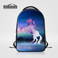 Dispalang Laptop Backpack Large Capacity School Bags Cartoon Unicorn Casual Mens Daypack Unisex Women Backpack Horse