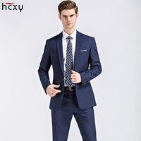 2018 Men's Suit Suits jacket Tops & Pants Men Business Casual Suits Male Wedding Groom Dresses Groomsmen Dresses large sizeM 5XL