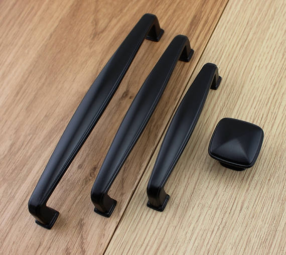 3.75 5 6.3 Black Kitchen Cabinet Knobs Handle Pull Knob Door Dresser Drawer Pulls Handles Knobs Decorative Furniture Decor l door handle furniture handles black drawer kitchen cabinet door handle grips hole pitch handle pulls