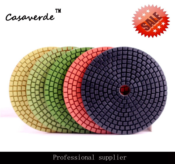 Free Shipping Wet 4 inch flexible diamond polishing pads for granite and marble  free shipping standard 5 125mm with 2 5mm flexible 5 inch polishing pads for granite and marble