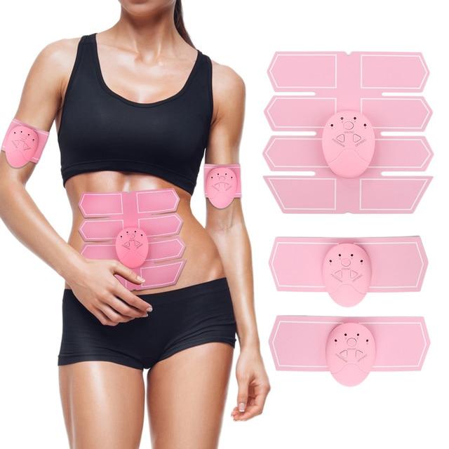 Женский розовый тренажер брюшной мышцы стикер массажер, стимуляция pad Abs тонкая спортивная наклейка оборудование для тренажерного зала для дома