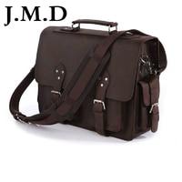 J.M.D 100% Vintage Genuine Crazy Horse Leather Cool Men Travel Bags Totes Shoulder Messenger Bag Big Bag Handbags 7145