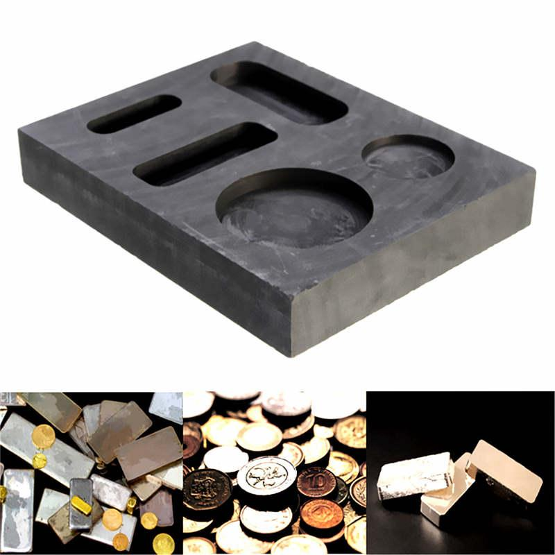 Square Five Holes Goove Graphite Crucible Melting Metal Bar Molds for Gold Silver Metal Melting dia75x h80mm high pure melting graphite crucible for melting metal