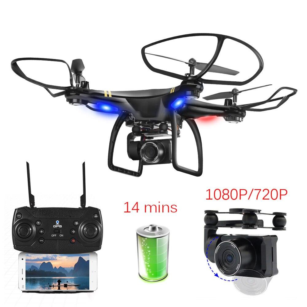5G Wifi GPS RC طائرات بدون طيار مع 1080 P كاميرا GPS المواقع الارتفاع الانتظار اتبعني Quadcopter بدون طيار المهنية طويلة تحلق الوقت-في طائرات هليوكوبترتعمل بالتحكم عن بعد من الألعاب والهوايات على  مجموعة 1