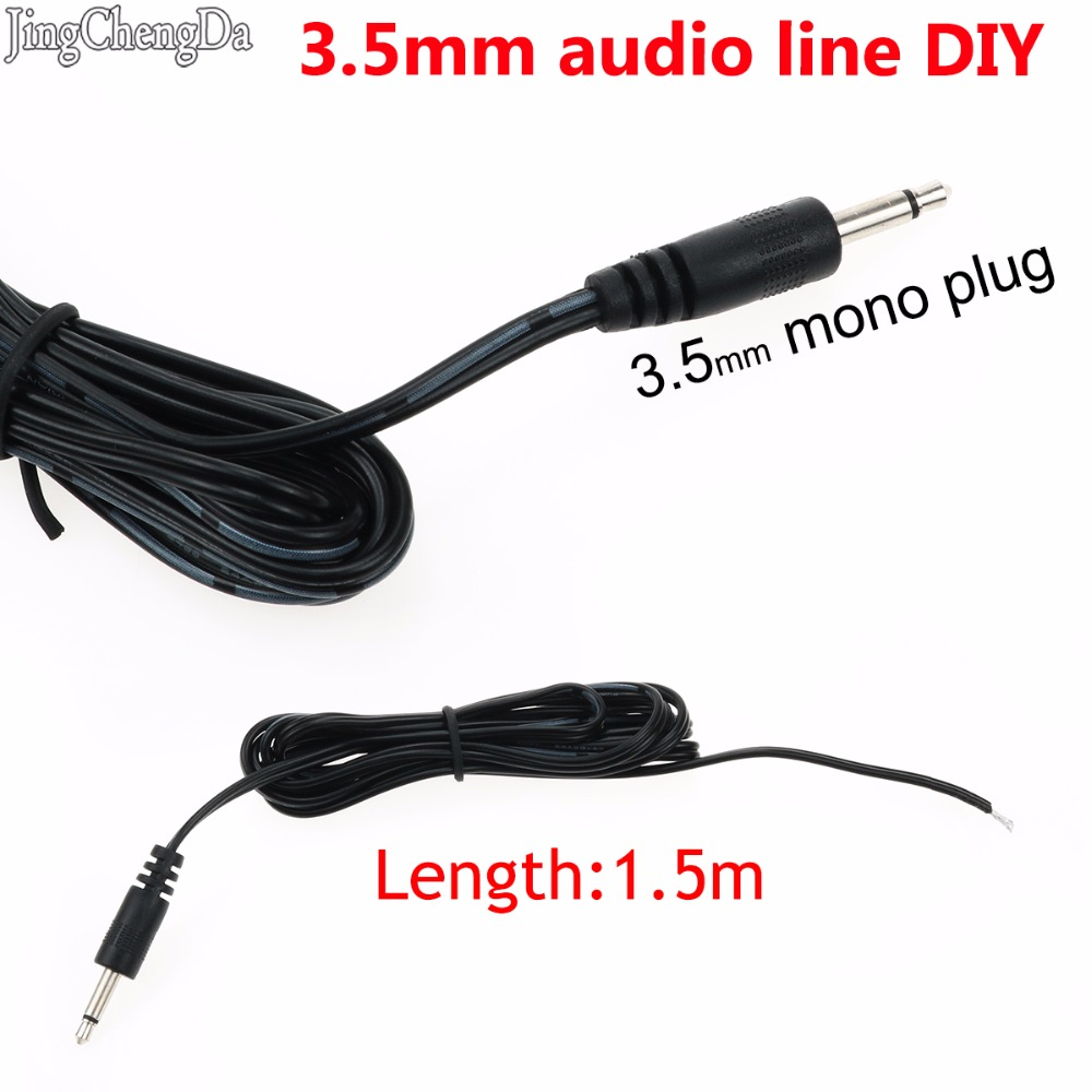 Jcd 1 5m 3 5mm Mono Plug Audio Line Wire Earphone