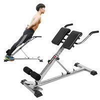 Indoor Roman Chair with Adjust Angle, Household Abdominal Muscle Fitness Chair, Free Installation Foldable AB Bench