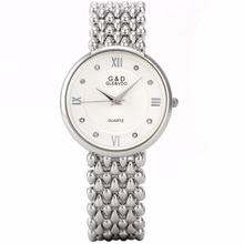 hot deal buy g&d top brand luxury silver womens wristwatches fashion quartz watches ladies bracelet watches relogio feminino gift reloj mujer