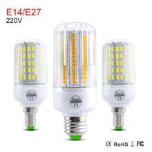 Foxanon E27 AC220V Conduziu a Lâmpada de Milho Lâmpada Led Iluminação Da Cozinha Lustre 24 30 42 64 SMD5730 80 LEDs de Luz Em Casa decoração da Ampola