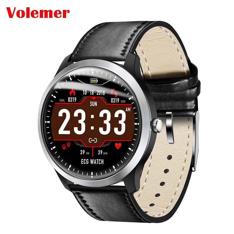 Volemer N58 ECG PPG smart watch with electrocardiograph ecg display,holter ecg heart rate monitor blood pressure smartwatch